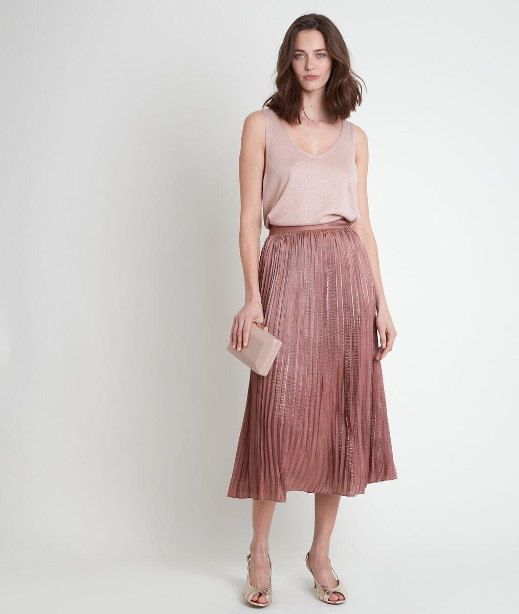Jupe plissée rose Greta PhotoZ | 1-2-3