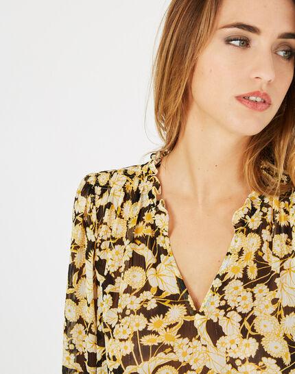 Gelbe Bluse mit Blumen Erine (3) - 1-2-3