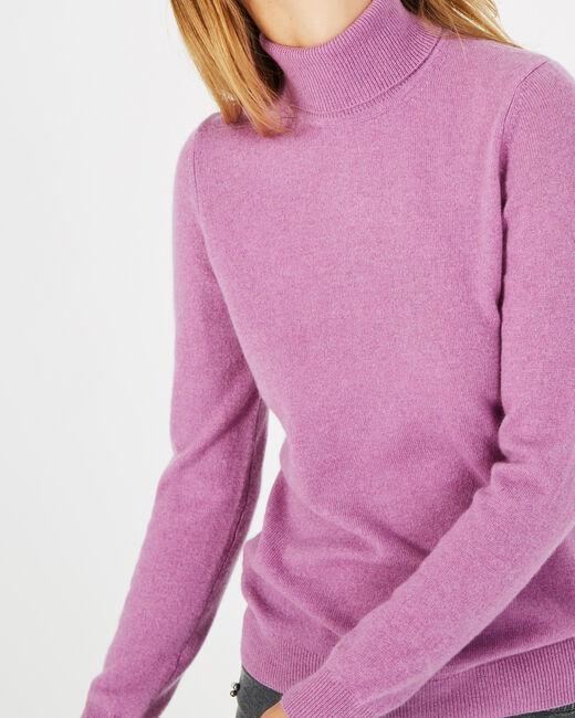 Perceneige violet polo-neck cashmere sweater (2) - 1-2-3