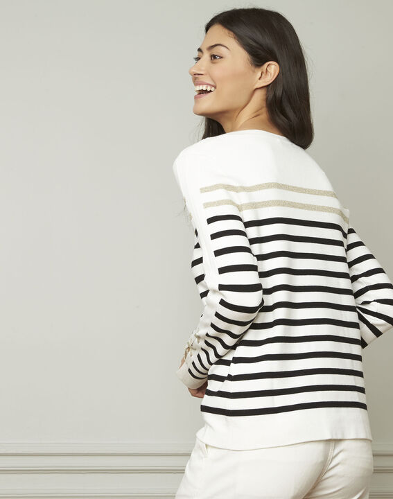Amiral pullover with stripes and lacing details (3) - 1-2-3