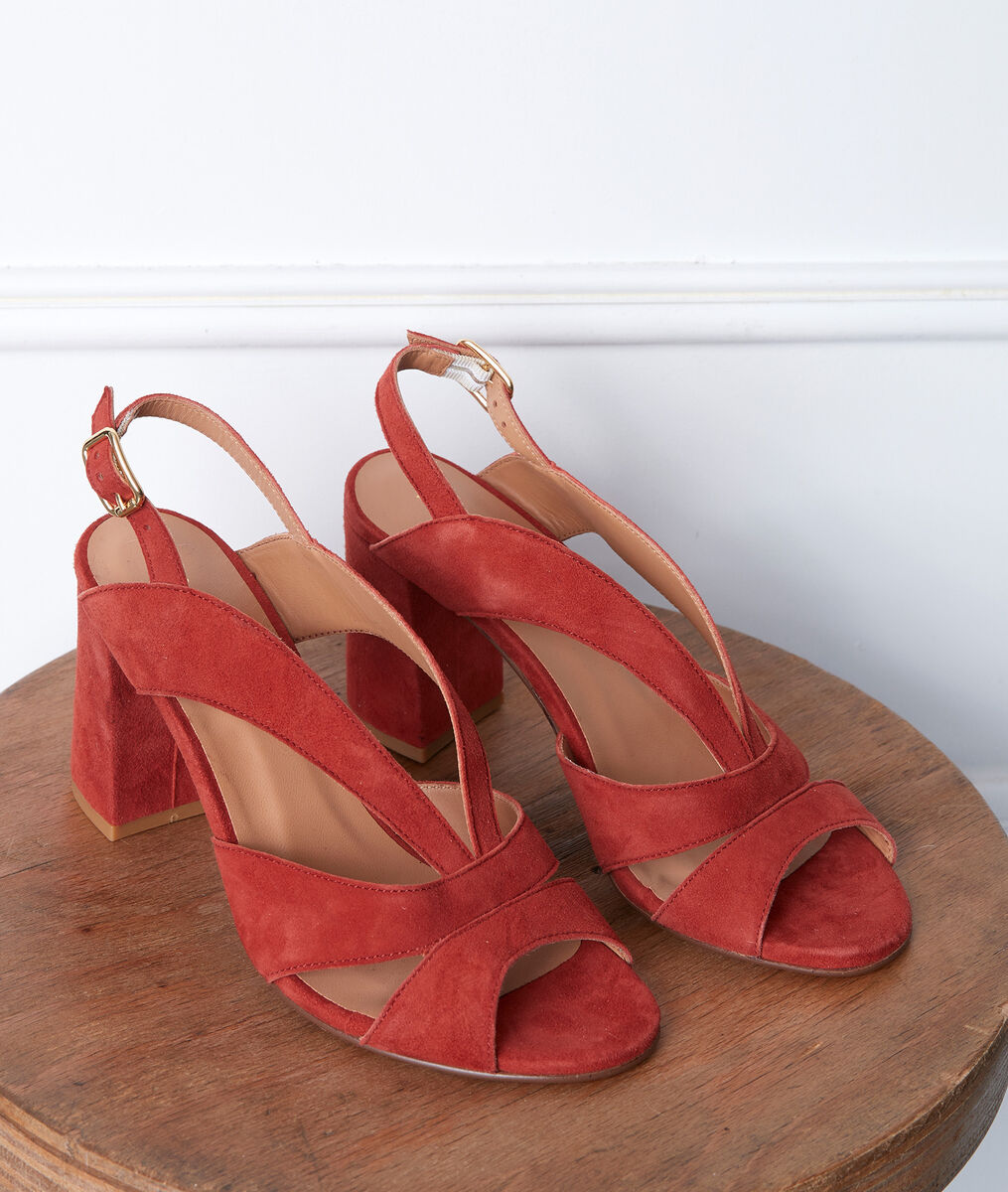 Sandales rouges en cuir Glenda PhotoZ | 1-2-3