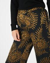 Pantalon imprimé floral kara or.