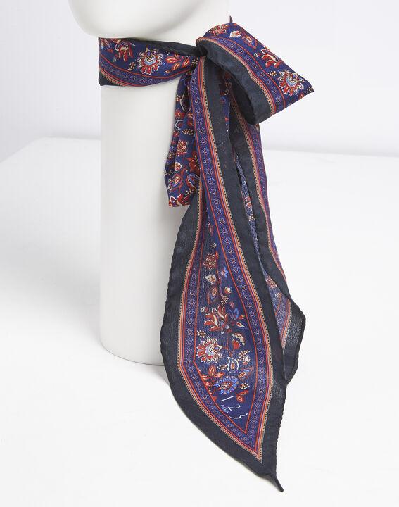 Krawatten- und Gürteltuch aus Seide mit Druckmuster Fiby (4) - 1-2-3