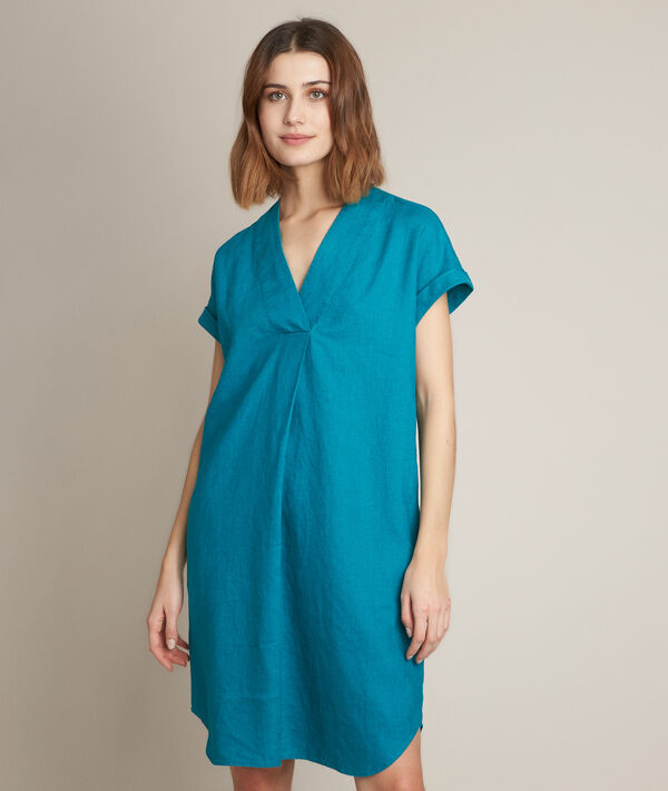 Robe en lin verte Christina PhotoZ | 1-2-3