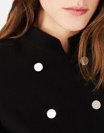 Veste de taileur noire à boutons Moustic (3) - 1-2-3