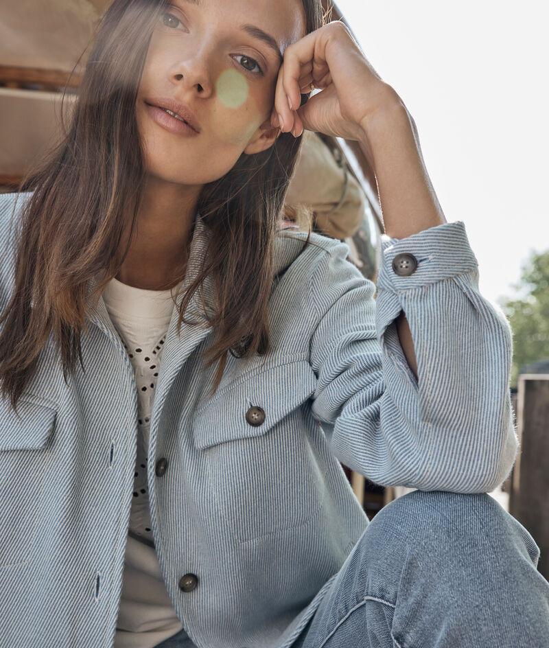 Veste en coton épais bleu ciel Poeme PhotoZ | 1-2-3