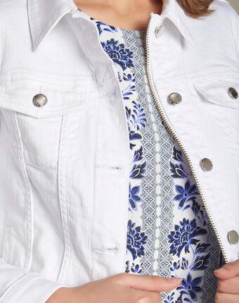 Clem white denim jacket white.