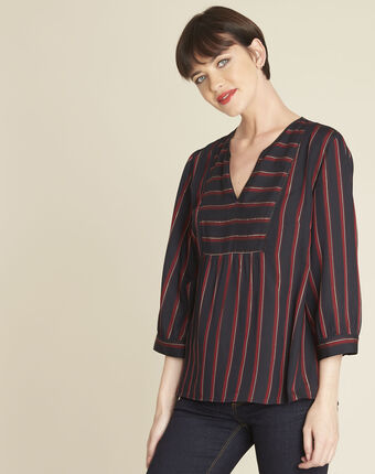 Cristabelle red striped blouse red.