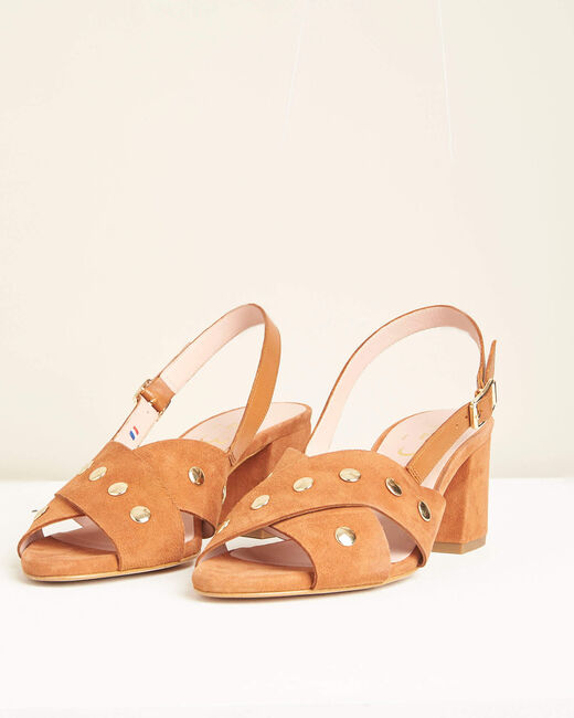 Kitty heeled camel sandals (2) - 1-2-3