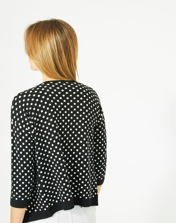 Parade black and white knitted jacket with polka dots (5) - 1-2-3