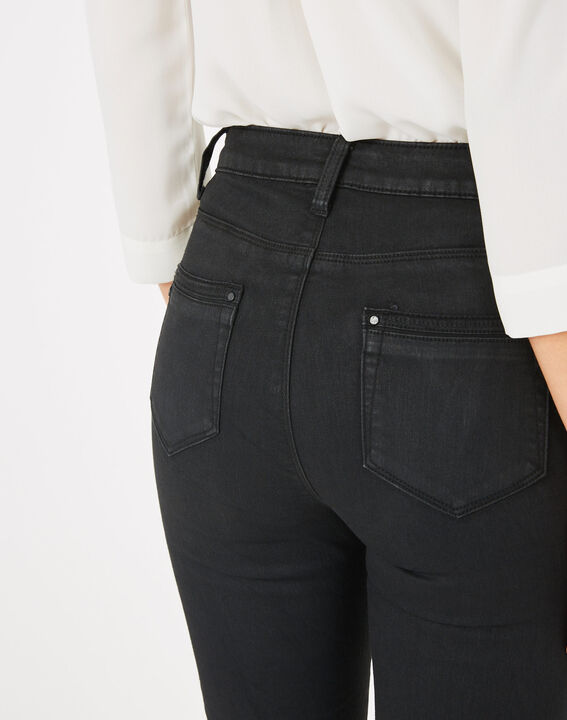 Pia black 7/8 length coated trousers (5) - 1-2-3