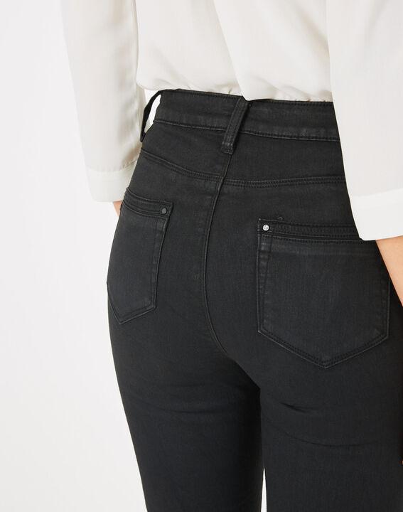 Pantalon noir enduit 7/8ème Pia (5) - 1-2-3