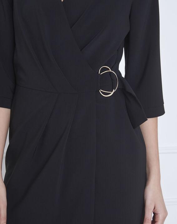 Robe noire portefeuille microfibre Lucious (3) - Maison 123