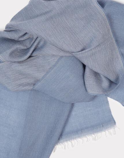 Foulard bleu en laine et modal Edgar (1) - 1-2-3