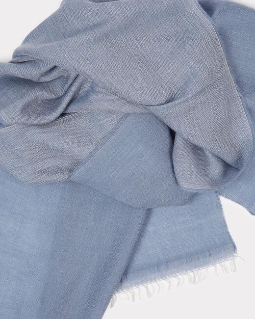 Foulard bleu en laine et modal Edgar (2) - 1-2-3