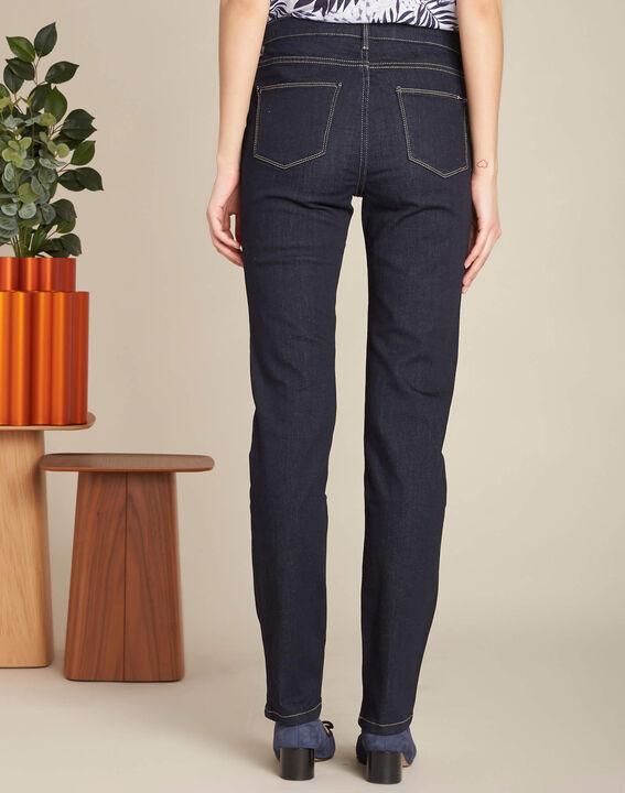Marineblaue gerade Jeans normale Leibhöhe Vivienne (4) - 1-2-3