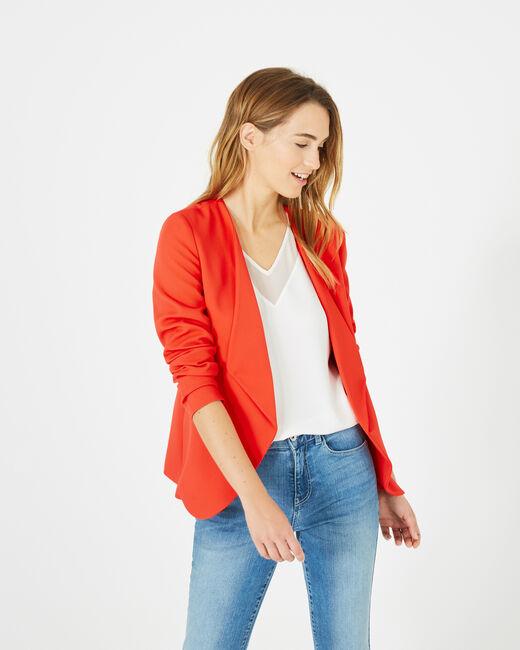 Veste rouge col tailleur Maite (2) - 1-2-3