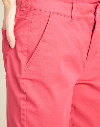 Pantalon fuchsia ceinturé slim francis fuchsia clair.