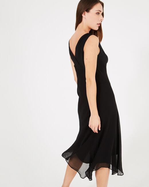 Schwungvolles langes schwarzes Kleid Foret (1) - 1-2-3