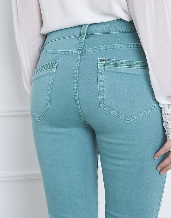 Seegrüne Jeans Slim Fit mit Reißverschluss Opera (4) - Maison 123