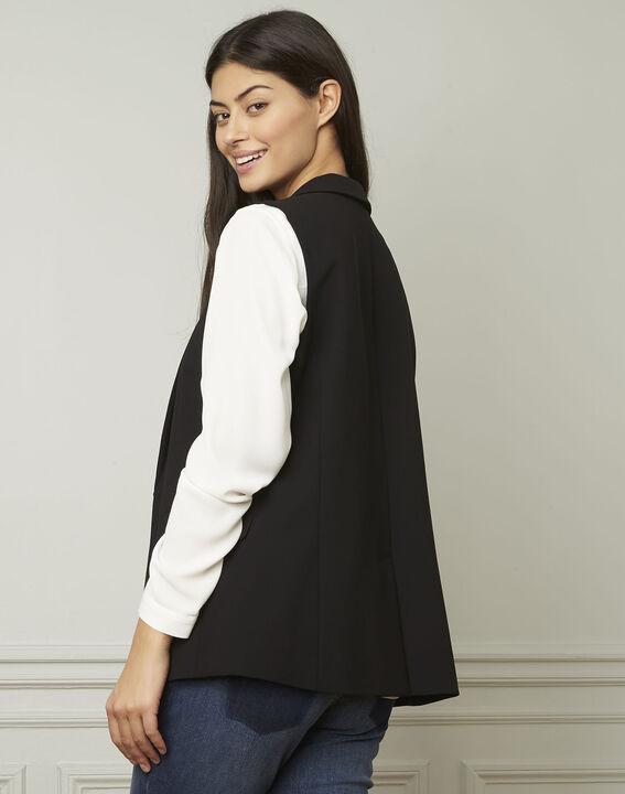 Schwarze, ärmellose Jacke aus Mikrofaser Cool (3) - Maison 123
