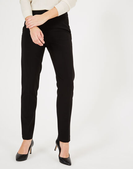 Vadim black and white tailored trousers with strips (3) - 1-2-3