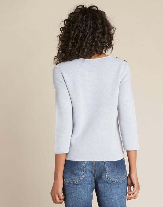 Neroli ice blue sweater with 3/4 length sleeves (4) - 1-2-3