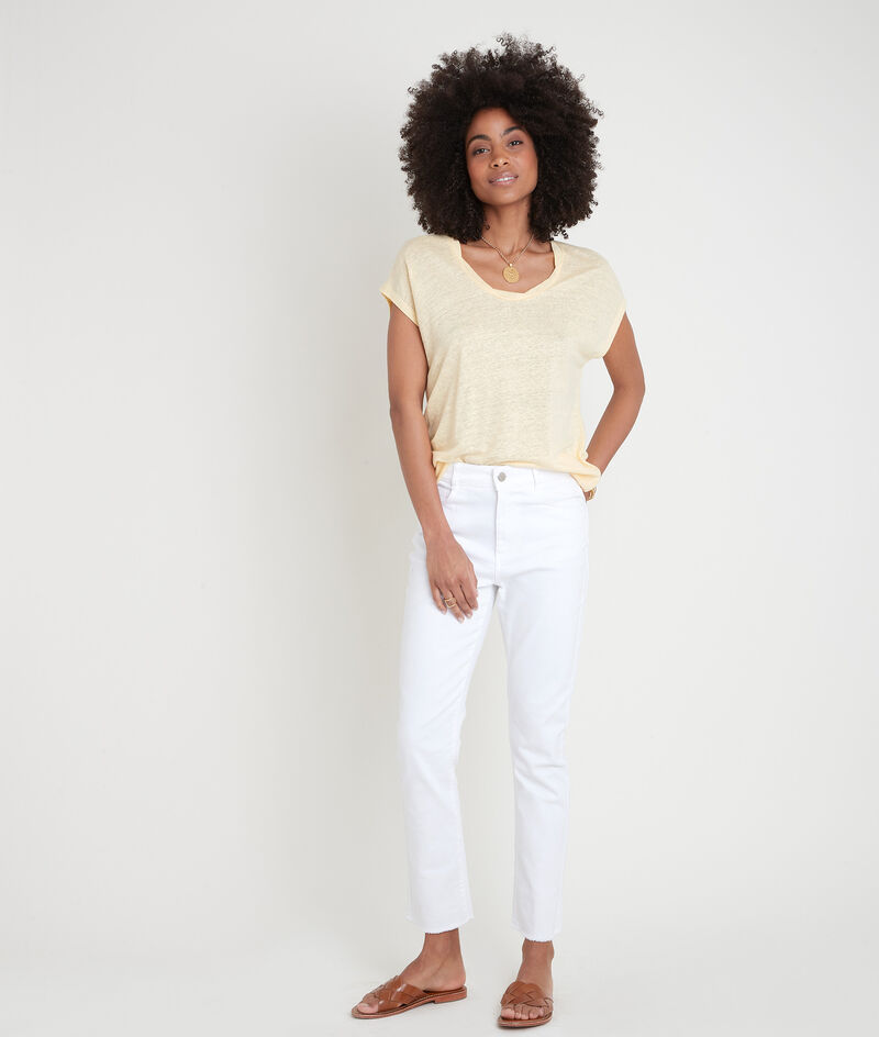 Tee-shirt en lin certifié citron Ecool PhotoZ | 1-2-3