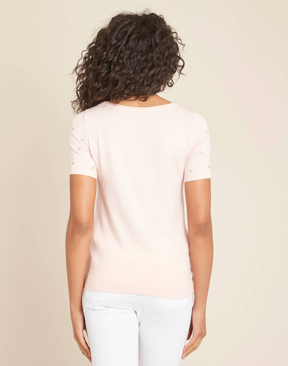 Nebuleuse pale pink sweater with embroidered constellation (4) - 1-2-3