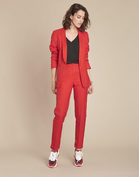 Pantalon rouge cigarette Emile PhotoZ | 1-2-3