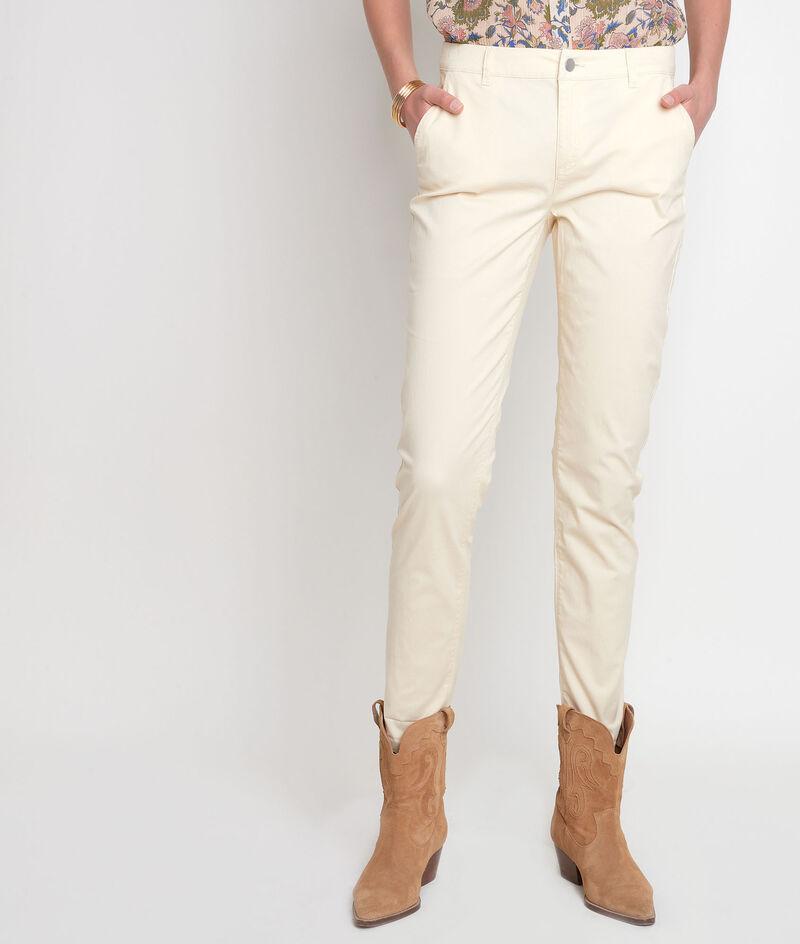 Pantalon droit en coton paille Francis PhotoZ | 1-2-3
