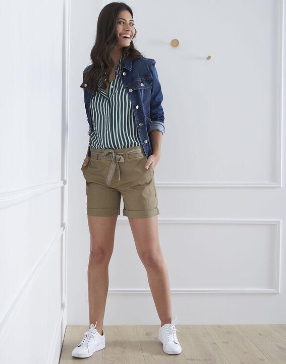 Short vert coton ceinture James (2) - Maison 123