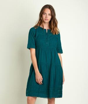 Robe verte à dentelle Corelia