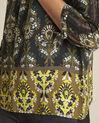 Chams black floral print blouse (3) - 1-2-3
