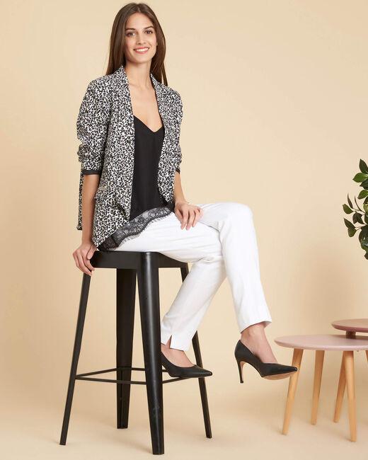 Carambole leopard print fitted jacket (1) - 1-2-3