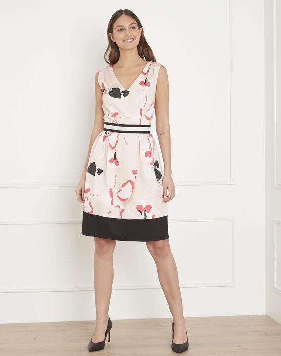 Puderfarbenes Kleid mit Druckmuster Hisis PhotoZ | 1-2-3