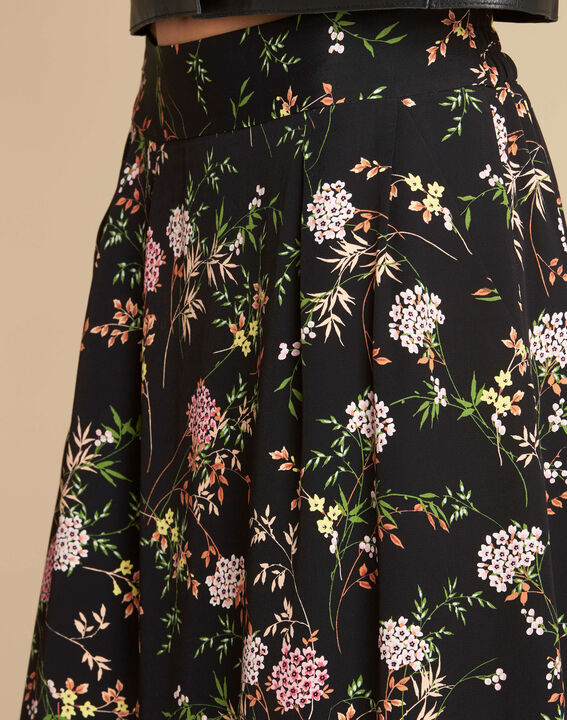 Lassie black floral printed skirt (1) - 1-2-3