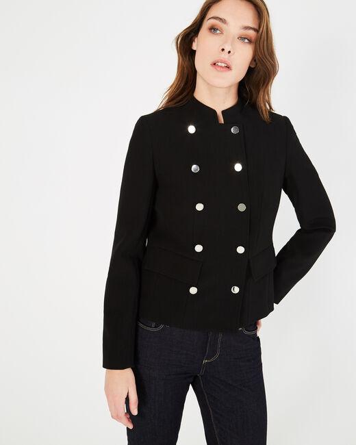 Veste de taileur noire à boutons Moustic (2) - 1-2-3