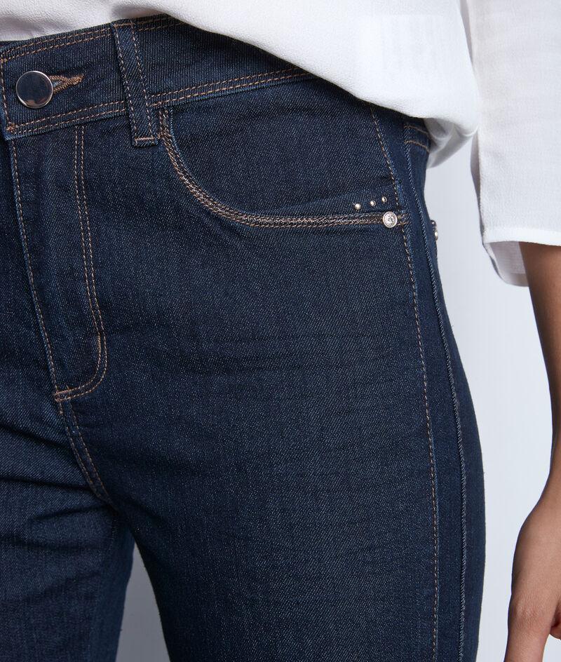 Denimblauwe slim-fit jeans van katoen Paola PhotoZ | 1-2-3