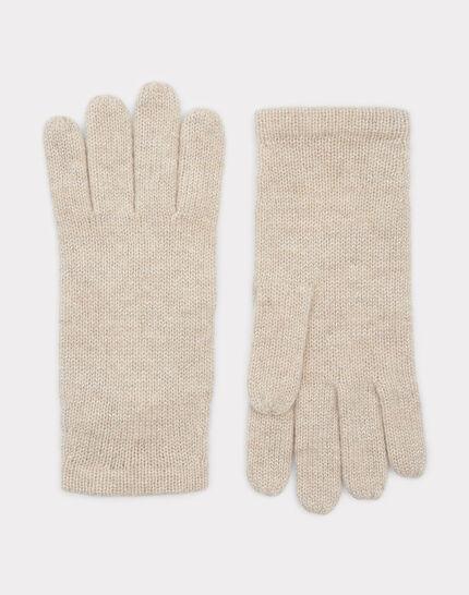 Beigefarbene Kaschmir-Handschuhe Tulipe bis PhotoZ | 1-2-3
