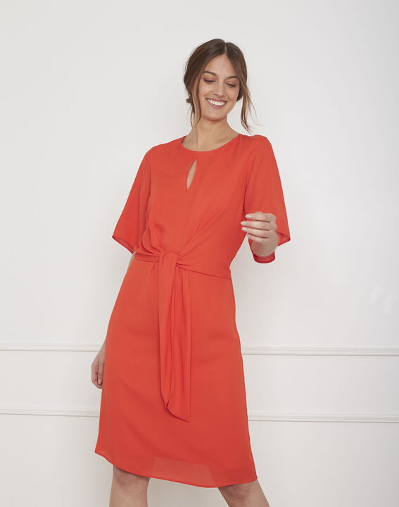 style actuel grande remise vente en ligne Robe rouge drapée Hermine