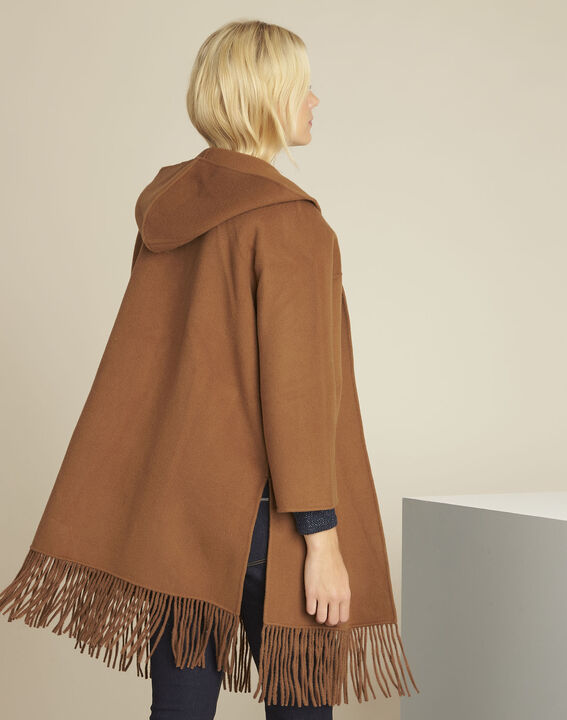 Elisa camel wool mix coat with trimming (4) - 1-2-3