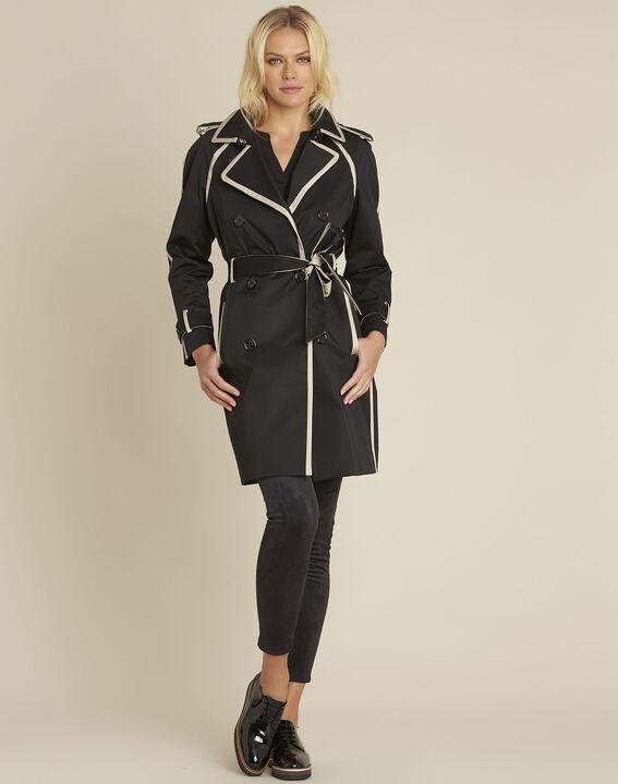 Eloise black braided trenchcoat PhotoZ | 1-2-3