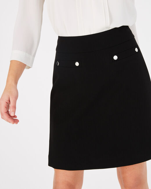 Fama black skirt with studs (2) - 1-2-3