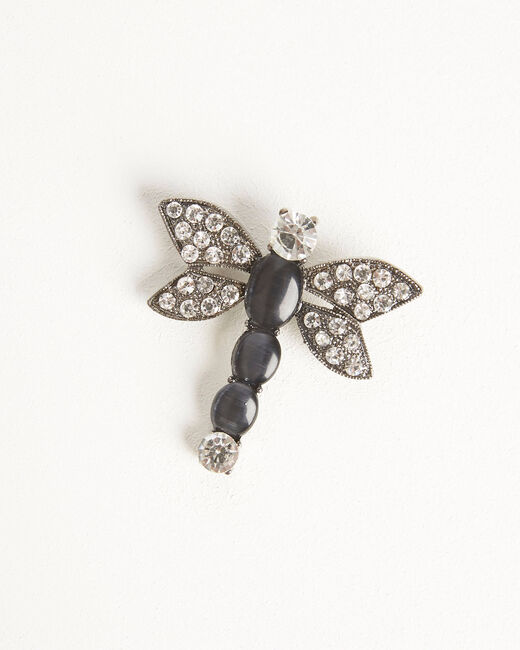 Oana black bee brooch with rhinestone detailing (2) - 1-2-3
