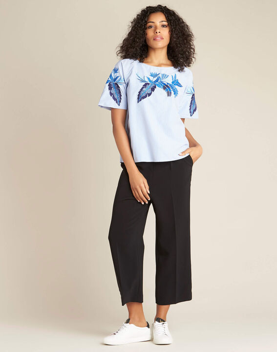 Grace blue embroidered blouse (2) - 1-2-3