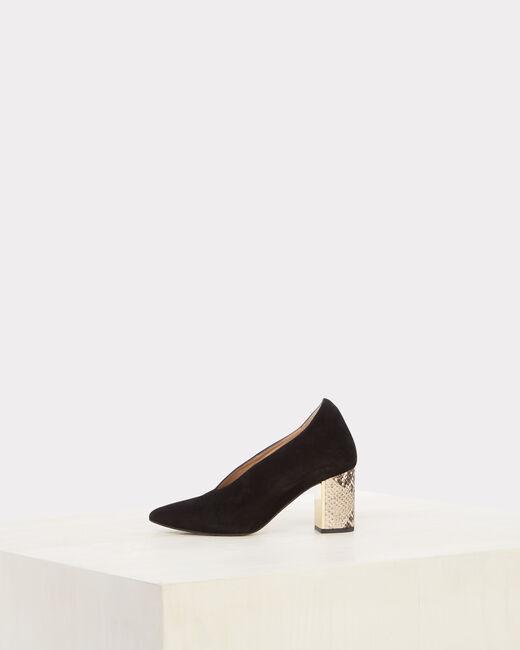 Naomi Bis snake skin effect black heels (2) - 1-2-3