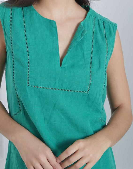 Robe verte encolure décorée Lolita (3) - Maison 123
