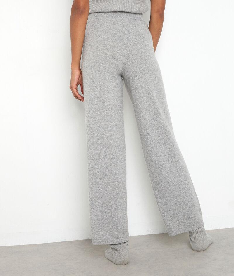 Pantalon large en cachemire recyclé gris clair Tanis PhotoZ | 1-2-3