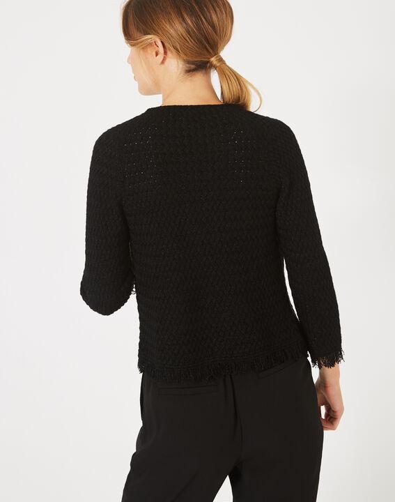 Veste courte noire tressée Patricia (4) - 1-2-3